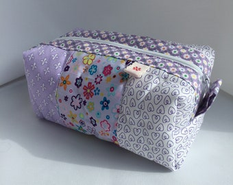 Pretty Lilac Quilted Patchwork Purse (Small)