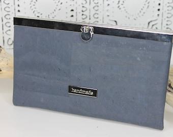 Slate Cork Slim Line Wallet