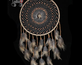 Dreamcatcher Forest guardian with the feathers of an eagle owl, about 80 cm