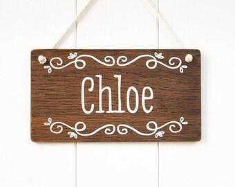 Personalized Kids Wooden Name Sign. Girls Room Decor Kids Door
