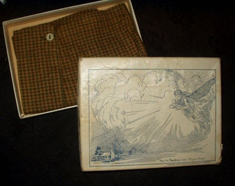 Vintage Children's Boy 1900 to 1920  Marx Haas Plaid Knickers In Advertising Box