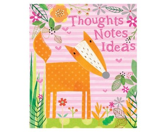 NM03 Thoughts,Notes, Ideas, Loackable journal, fox and woodland design.