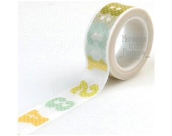 ABC 123 Washi Tape - Planner Washi Tape - Scrapbooking Embellishment - Decorative Tape - Masking Tape - 535975