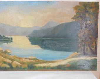 Touberg 1940 HSP French school landscape Mountain Lake
