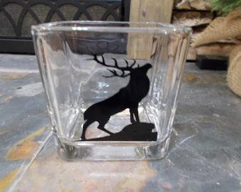 Vase / Votive Candle Holder / Gift for Her / Log Cabin Decor / Housewarming Gift