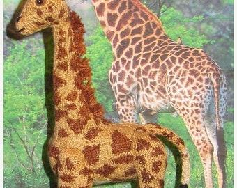 HALF PRICE SALE Instant Digital File pdf download Georgie Baby Giraffe toy animal amigurumi microknit pdf knitting pattern
