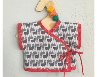 Kimono Vest, Hand Quilted, Baby & Toddler, Custom Made