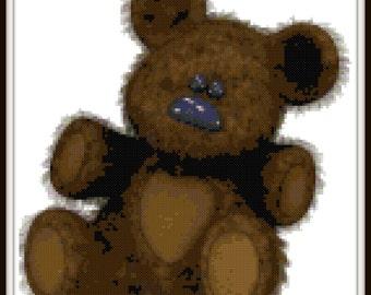 Teddy Bear Cross Stitch - PDF Download