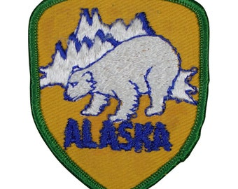 Vintage Alaska Polar Bear Patch (Iron on)