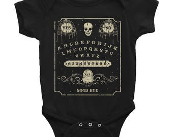 Ouija Board Bodysuit || Occult Baby || Witchy Baby || Goth Baby Clothes || Skull Baby Clothes || Alternative Baby || Halloween Baby