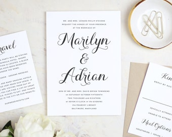 Instant Printable Wedding Invitation Template | Calligrapher Script | Word or Pages | MAC or PC | Editable Artwork Colors - Instant DOWNLOAD
