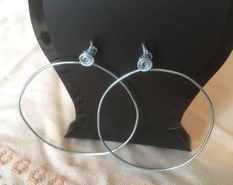 X 2 45mm hoop earrings stand