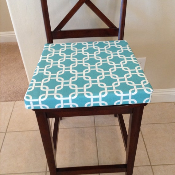 Chair Seat Cushions, Replacement Chair Cushion Cover, Replacement Chair  Cushions Teal And White Geometric Fabric Seat Cushion Cover