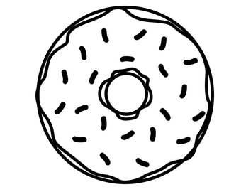 Donut Vinyl Decal, Donut Die Cut Decal, Donut Car Window Decal, Donut laptop sticker