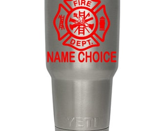 PERSONALIZED FIREMAN DECAL/Firefighter/Fireman/Firemen/Fire Woman/Fire Women/Fire Department/Locker Sticker/Cup/Truck/Car/Window