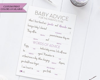 Baby shower mad libs (10) - Baby shower madlibs - Baby shower advice cards - Advice for mommy to be - Advice for parents to be