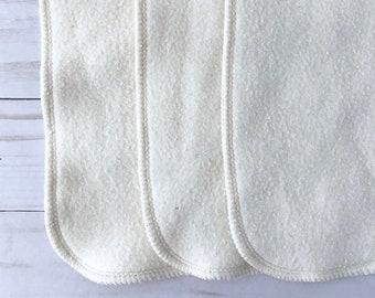 6 Organic bamboo cotton fleece cloth diaper inserts, super soft, super absorbent!