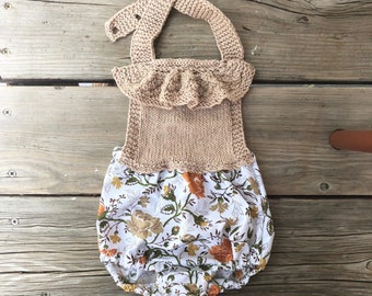 Babies clothes 6 months Knitwear babies romper knit Boho baby girls clothes photo shoot outfit knits soft cotton baby clothes ruffle romper