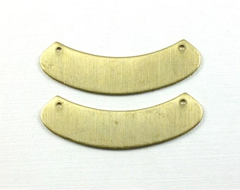 6 brass BLANK necklace collar bib.  2 inches wide (ST210) Please read description