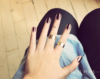 2  Tube Rings, Midi Rings, Midi Ring, Above Knuckle ring, , twist ring, Stack Ring