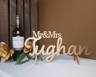 Personalized Wedding Mr&Mrs Last Name Sign | Mr and Mrs Signs | Custom Name Sign | Last Name Sign