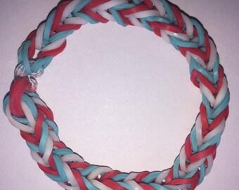 USA Style Loom Rubber Band Bracelet-Fishtail Design (Free Shipping)