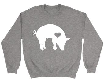 Pig Sweatshirt / Pig Sweater / Gift for Pig Lover / Miniature Pig / Pig Gift  / Barn Birthday Party / Farm Sweatshirt / Pig Clothing