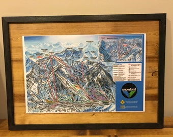 Snowbird Ski Resort Trail Map Wall Art Wall Decor