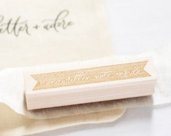 Handwritten Note Inside Stamp | Mail art stamp, Packaging stamp, Stationery gift, Accessory stamp