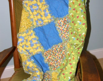 Homemade Baby Quilt, Baby Rag Quilt, Cotton Baby Blanket, Baby Crib Quilt, Crib Rag Quilt, Crib Quilt, Newborn Quilt, Newborn Quilt,