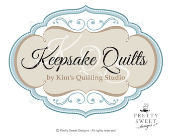 Quilting Logo Design, Custom hand made Logos, Boutique Logo Designs For Small Business Branding