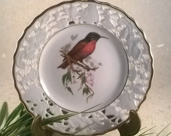 Old-Mitterteich ornamental plate bird motif