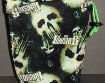 The Punisher Cloth Drawstring Dice Bag for Dice Masters/D&D/Armada/X-Wing/Warhammer/RPG