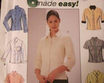 Simplicity 8772,  Shirt Sewing Pattern