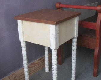 Side Table / Small Table / Small End Table / Handmade / handmade Table / Plant Stand / Small Side Table / Recycled Table / Shabby Table