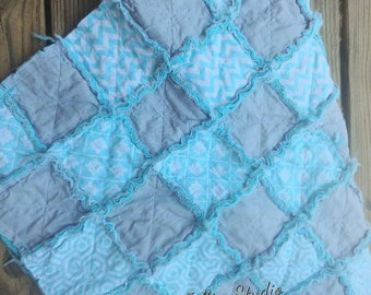Beautiful One Of A Kind Baby Rag Quilt