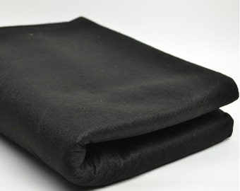 Free Shipping Chinese Calligraphy Material  1x2m Black Wool Felt / Wool Felt Pad / Wool Felt Mat - Wool Blend -  0007