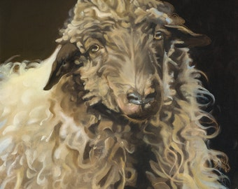 "Sheep painting ""Marley"""
