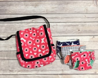 Dollies Diaper Bag Pattern and Tutorial + Free Dollies Diapers Pattern
