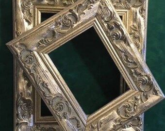"""Wide Silver Frame - Painting Canvas Ornate 5 x 7"""""""