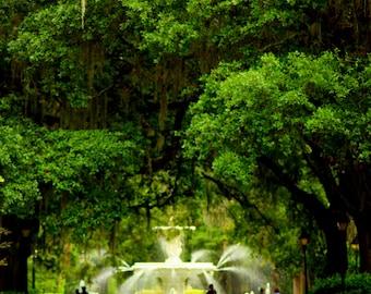 Savannah Georgia Photography,  Forsyth Park, Fine Art Photography of Georgia, GA Prints, Photography Print Savannah Georgia