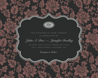 A Wedding Invitation - Regal - Mauve - Set of 100