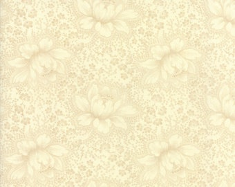 Farmhouse Reds by Minick & Simpson - Etched Floral - Tonal Ivory - Moda 14850 24