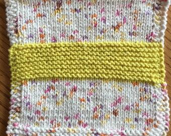 Scrub-band Cotton Knit Dish Cloths / Wash Cloths