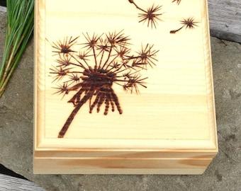 Dandelion Wish Wooden Box