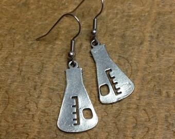Gorgeous Geekery Erlenmeyer Earrings - Chemistry Earrings, Science Jewelry, Chemical Flask, Beaker, Laboratory - Great Gift!