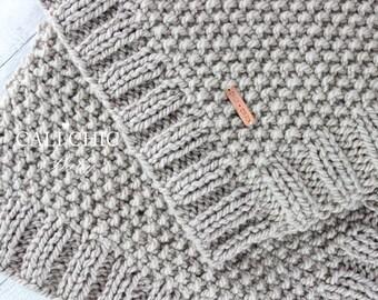 Knitting PATTERN 132 - Manchester- Baby Blanket PATTERN 132 - Knit Blanket Pattern - Instant Download