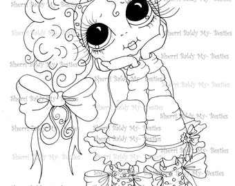 INSTANT DOWNLOAD Digi Stamps Big Eye Big Head Dolls Digi Bestie Img003 By Sherri Baldy