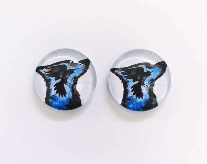 The 'Howl At The Moon' Glass Earring Studs