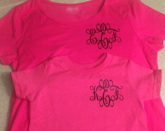 Monogrammed Mommy and Me Shirts